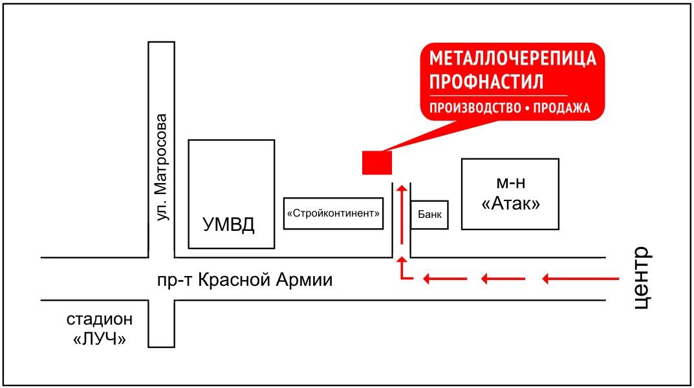 Схема проезда в городе Сергиев